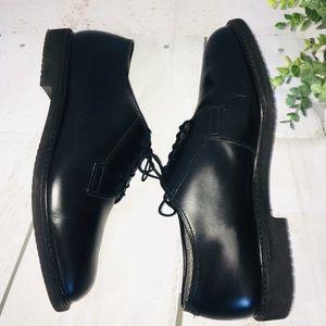 BatesLites Black Leather Dress Shoes Slip Free